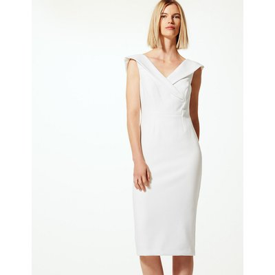 M&S Collection Double Crepe Short Sleeve Bodycon Dress
