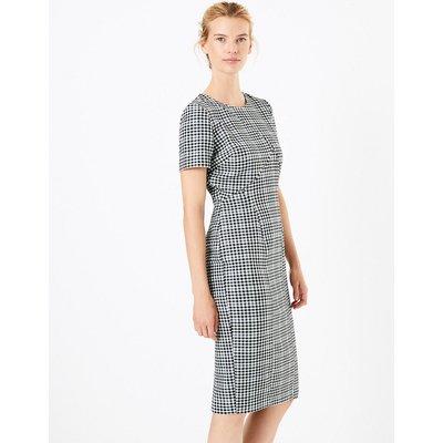 M&S Collection Checked Midi Bodycon Dress