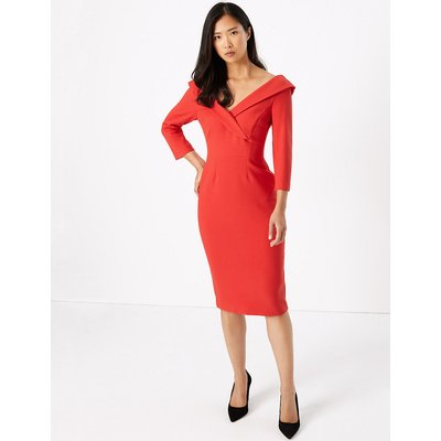 M&S Collection Off The Shoulder Bodycon Midi Dress