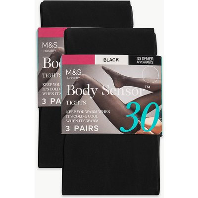 M&S Collection 6 Pair Pack 30 Denier Body Sensor Opaque Tights