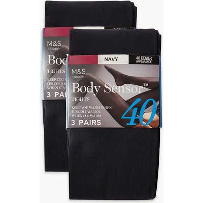 M&S Collection 6 Pair Pack 40 Denier Body Sensor Opaque Tights