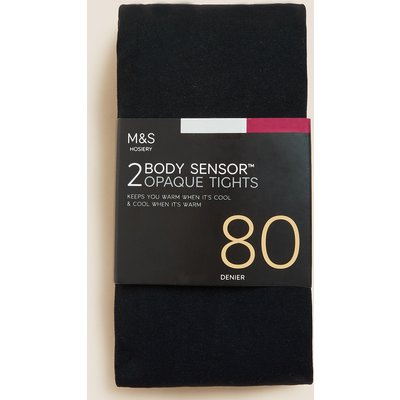 M&S Collection 2pk 80 Denier Body Sensor Tights