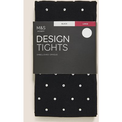 M&S Collection 180 Denier Embellished Opaque Tights