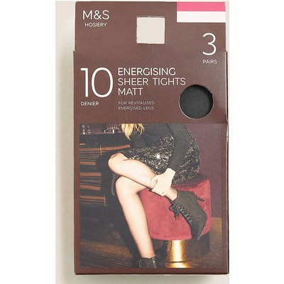 M&S Collection 3 Pack 10 Denier Energising Sheer Tights