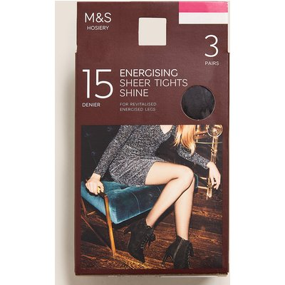 M&S Collection 3 Pack 15 Denier Energising Sheer Tights