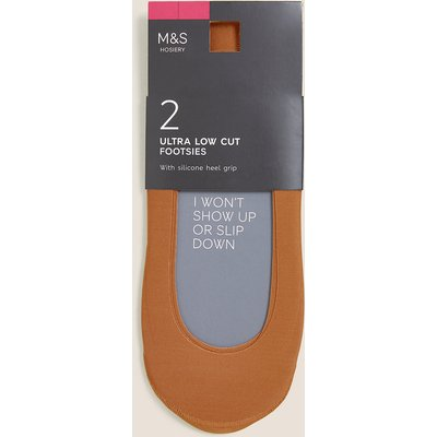 M&S Collection 2 Pack Ultra Low Cut Footsies