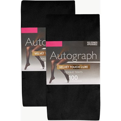 Autograph 2 Pair Pack 100 Denier Opaque Tights