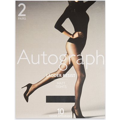 Autograph 2 Pack 10 Denier Ladder Resist Matt Tights