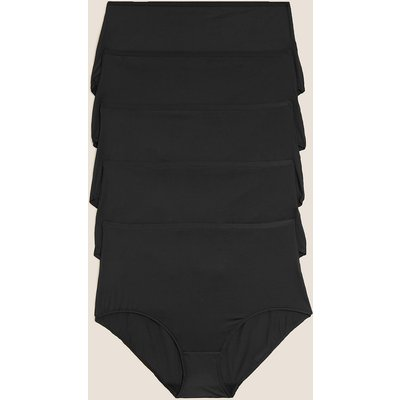 M&S Collection 5 Pack No VPL Microfibre High Rise Full Briefs