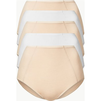 M&S Collection 5 Pack No VPL Modal Blend Front Seam Full Briefs