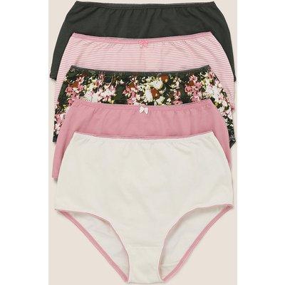M&S Collection 5pk Cotton Lycra Camo Floral Full Briefs