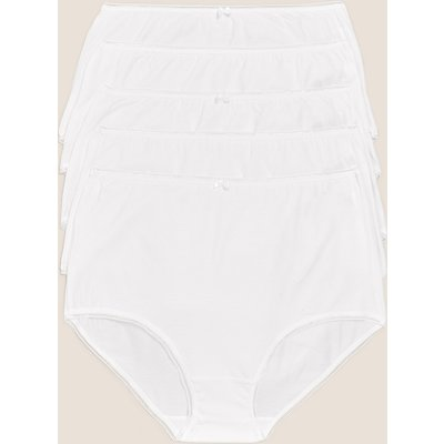 M&S Collection 5pk Cotton Lycra High Waisted Full Briefs