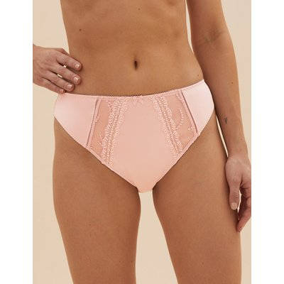 M&S Collection 5 Pack Embroidered High Leg Knickers