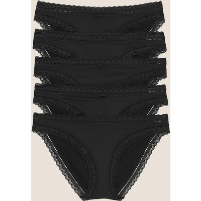 M&S Collection 5 Pack Microfibre with Lace Mini Knickers