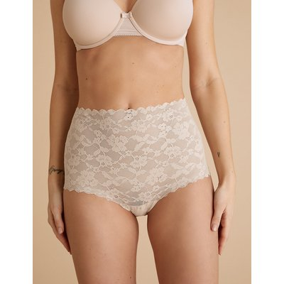 M&S Collection Freecut Lace High Rise Full Briefs