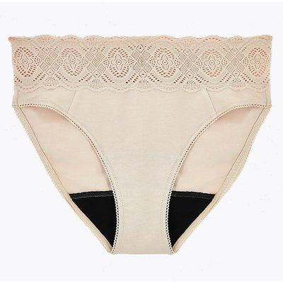 Confidence Anti-Leak Cotton & Lace High Leg Knickers