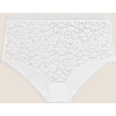 M&S Collection Cotton & Lace Full Briefs