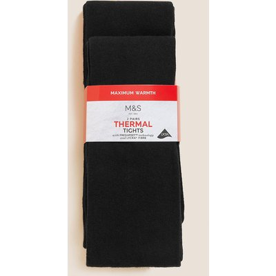 2 Pairs of Thermal Tights with Wool (5-14 Years)