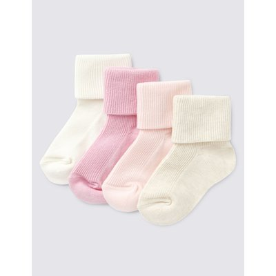 4 Pairs of Baby Socks pink, Pale Pink Mix