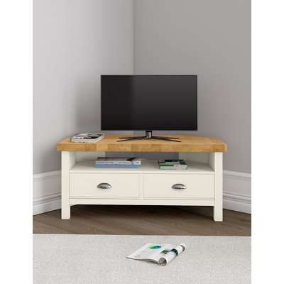 Padstow Ivory Corner TV Unit