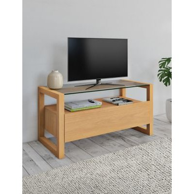 M&S Colby TV Unit - Oak, Oak