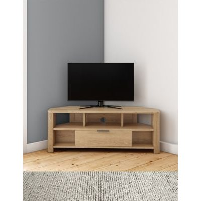 M&S Cora Corner TV Unit - 1SIZE - Natural, Natural