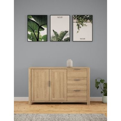 M&S Cora Large 2 Door Sideboard - 1SIZE - Natural, Natural