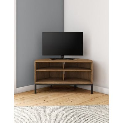M&S Brookland Corner TV Unit - 1SIZE - Black Mix, Black Mix