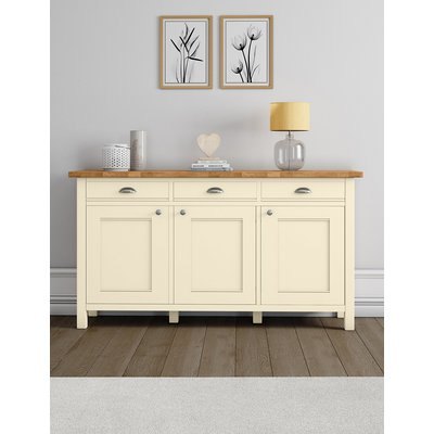 Padstow 3-Door Sideboard Cream