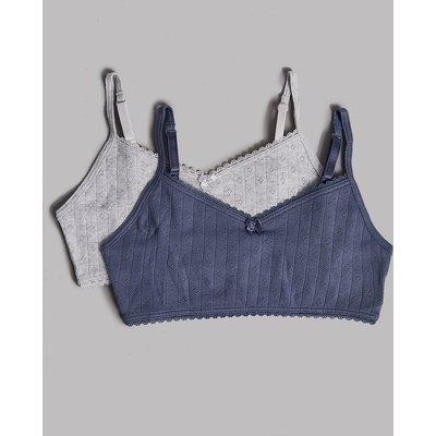 Autograph 2 Pack Pure Cotton Cropped Tops (6-16 Years)