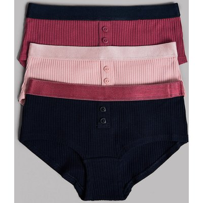 Autograph 3 Pack Cotton Shorts with Lycra (6-16 Years)
