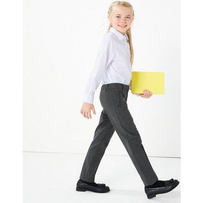 Girls' Slim Leg Slim Fit Trousers, Grey