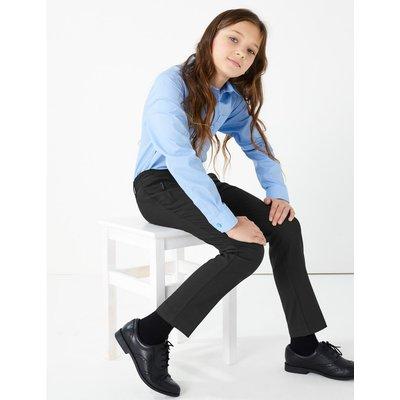 Girls' Slim Leg Trousers black