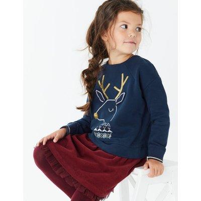 Reindeer Sweatshirt (3 Months - 7 Years) blue