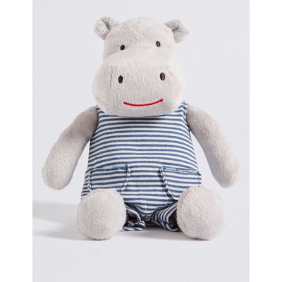Hippo in Dungarees grey