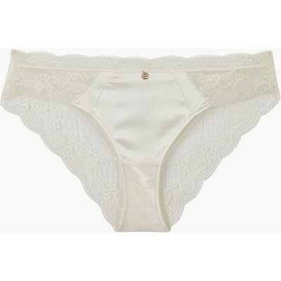 Rosie for Autograph Silk & Lace Brazilian Knickers