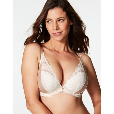 Rosie for Autograph Lace Padded Plunge Bra DD-G with Silk