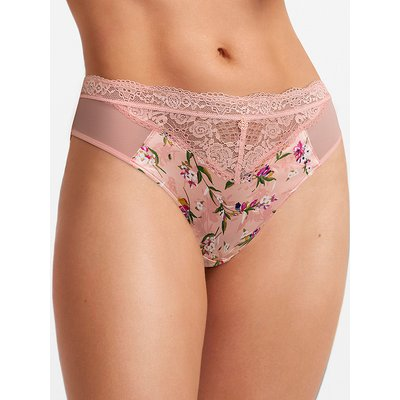 Rosie for Autograph Silk & Lace Printed High Leg Knickers