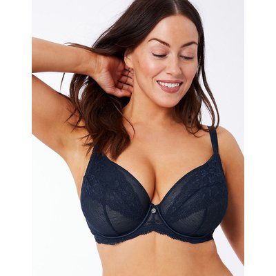 Rosie for Autograph Spot Mesh & Lace Non-Padded Plunge Bra DD-G
