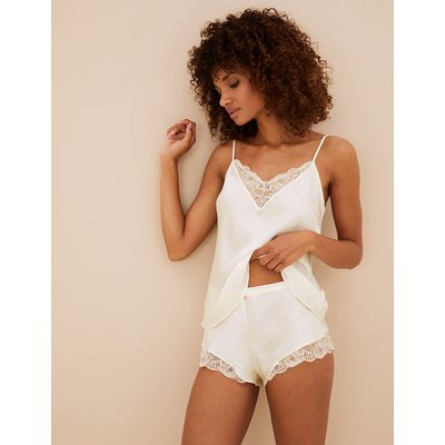 ROSIE Silk & Lace French Knickers with Lurex