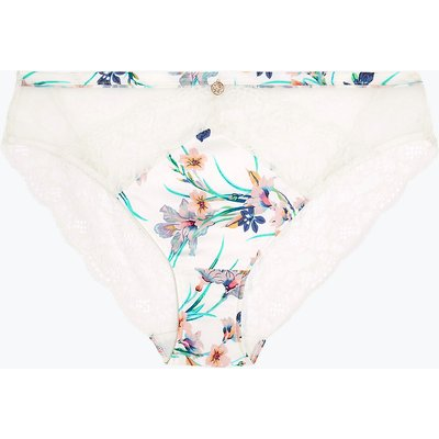 ROSIE Silk & Lace Exotic Floral High Leg Knickers