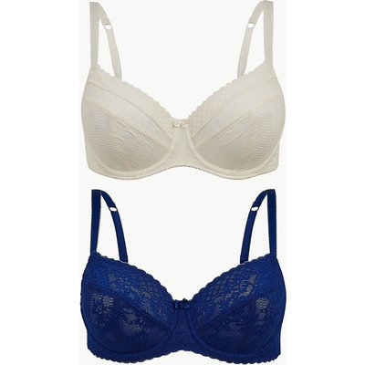M&S Collection 2 Pack Lace Non-Padded Balcony Bras A-E