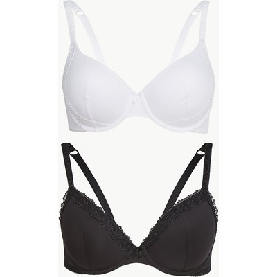M&S Collection 2 Pack Embroidered Padded Full Cup Bras A-E