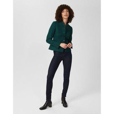 M&S Hobbs Womens Pure Wool Short Jacket - 6 - Dark Green, Dark Green