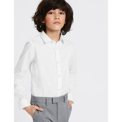 Pure Cotton Textured Shirt (3-16 Years) white