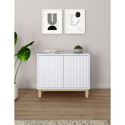 M&S Loft Small 2 Door Sideboard - 1SIZE - White, White