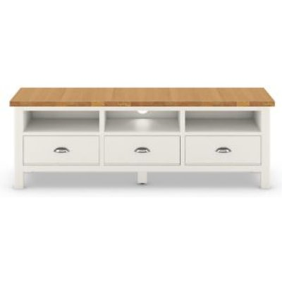 M&S Padstow Wide TV Unit - Ivory, Ivory