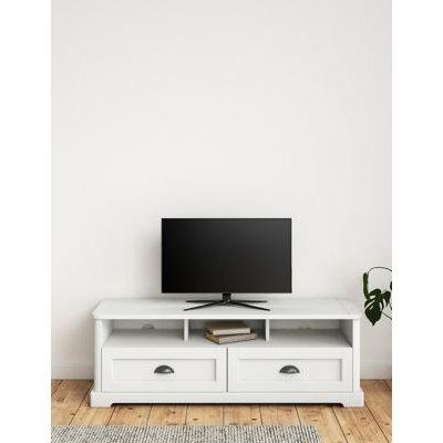 M&S Willow TV Unit - 1SIZE - Soft White, Soft White