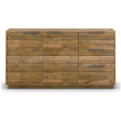 M&S Groove Large 2 Door Sideboard - 1SIZE - Wood, Wood