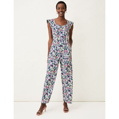 M&S Phase Eight Womens Floral Sleeveless Waisted Jumpsuit - 10 - Multi, Multi
